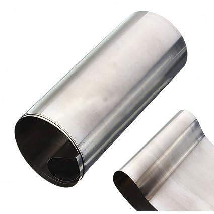 HEASEN 1pc Plata 304 Acero Inoxidable Fina Hoja de Hoja de 0.1mm100mm1000mm para Molde Fabricación