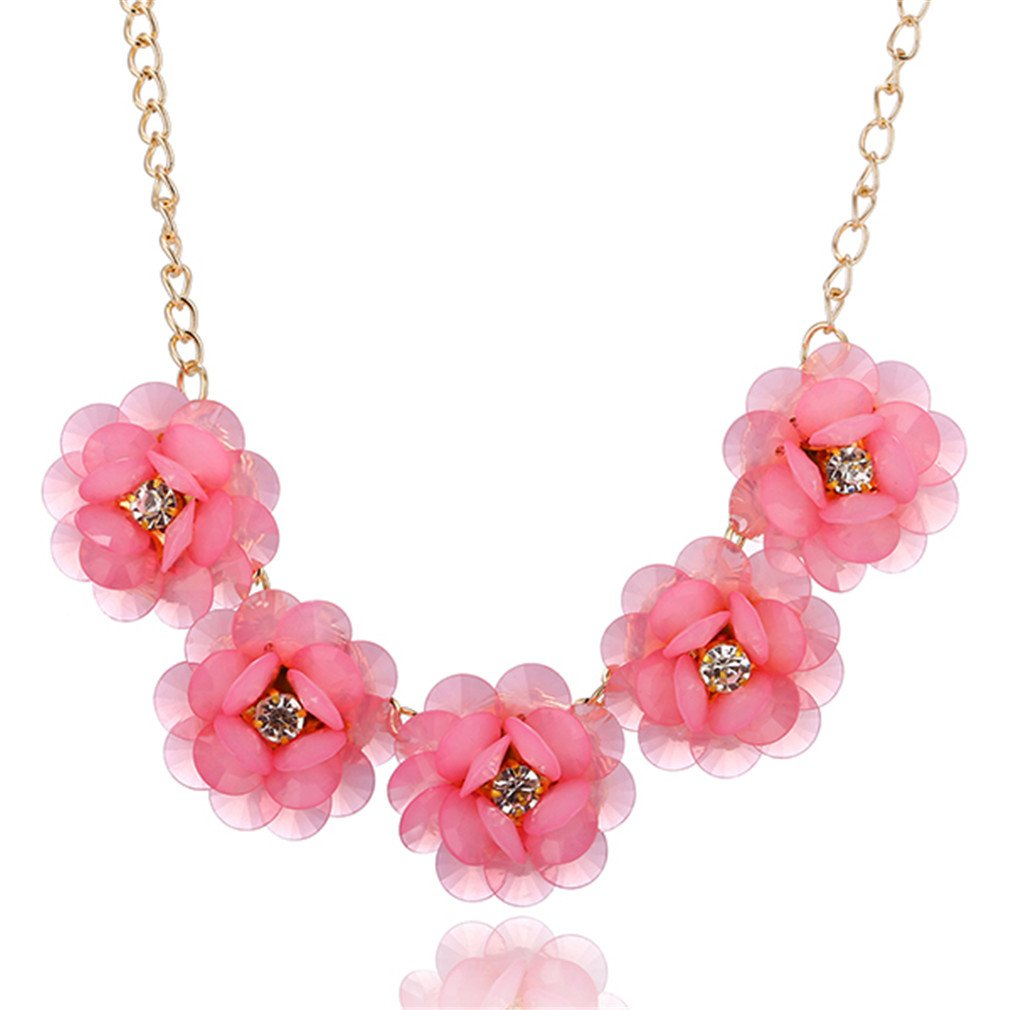 Astral Sweet And Rich Summer Flowers Short Necklace Women Statement Necklace