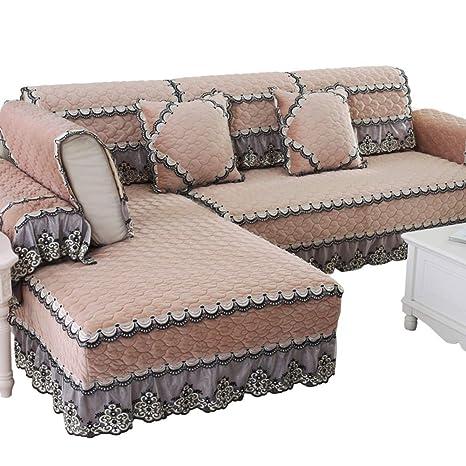 Winter Plush Sofa Cushioning,European Fabric General Sofa Cover,Four  Seasons Combination Non