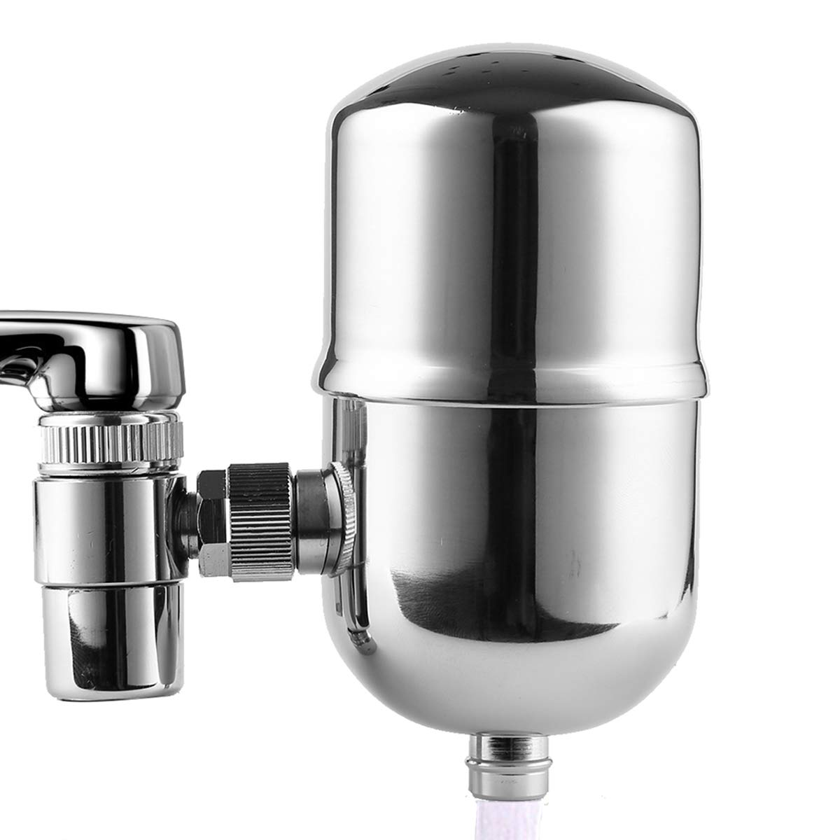 7. Engdenton Faucet Water Filter Stainless-Steel Reduce Chlorine High Water Flow, Water Purifier with Ultra Adsorptive Material