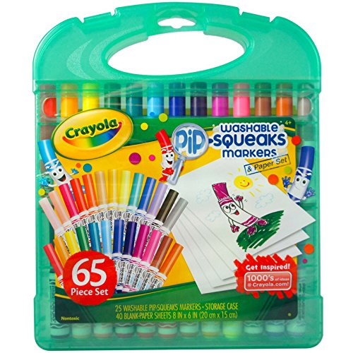 Crayola Pip-Squeaks Washable Markers & Paper Set, Kids Travel Activities, Ages 4, 5, 6, -