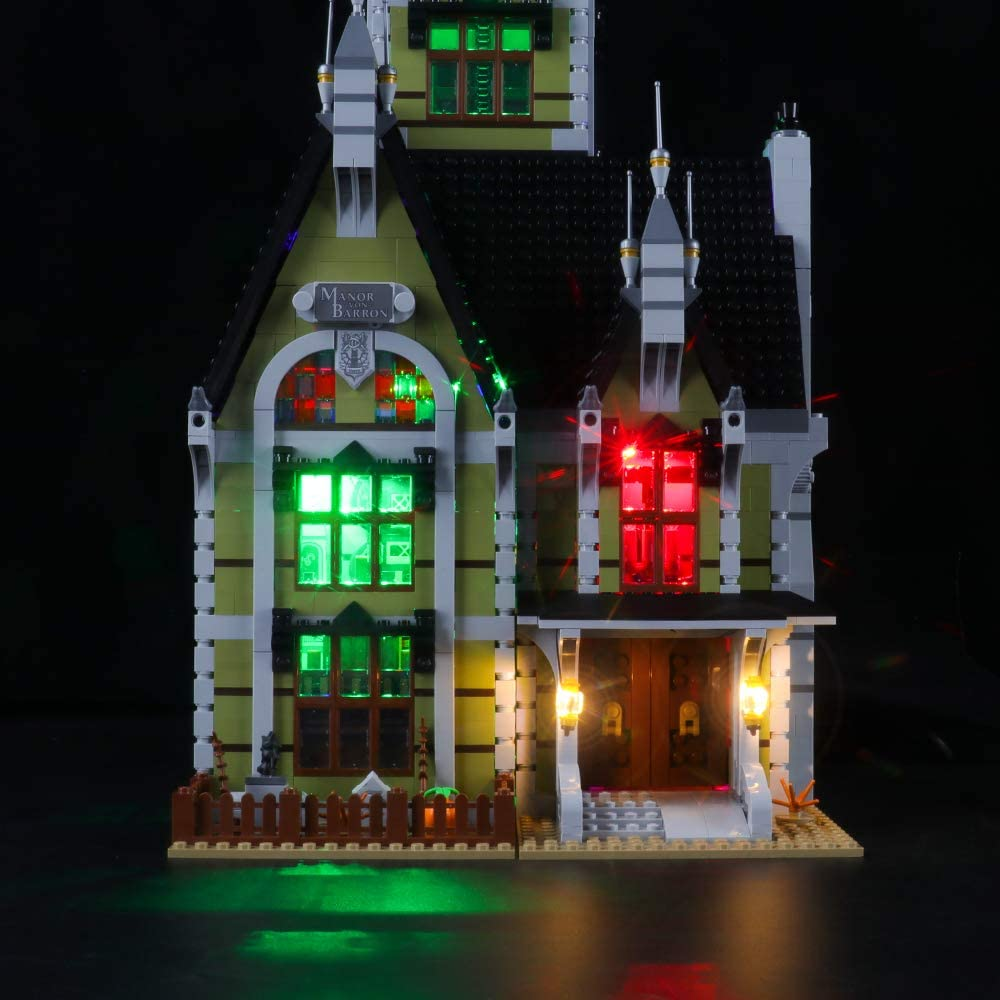 NOT Included The Model LIGHTAILING Light Set for Creator Fairground Collection Haunted House Building Blocks Model - Led Light kit Compatible with Lego 10273