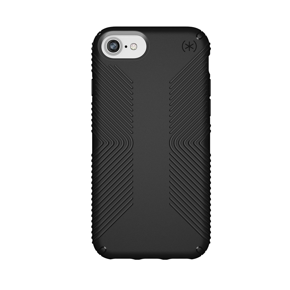 cheap for discount a3846 9baa1 Speck Products Presidio Grip Case for iPhone 8 (Also Fits 7/6S/6),  Black/Black