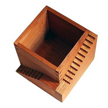 Magideal Leiter Holz Form Blumentopf Quadratisch Pflanzgefass