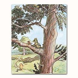 (Set of 4) Winnie the Pooh Art (Classic Nursery Wall Decor, Baby Room Prints) \