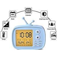 One Fire Digital Alarm Clock for Kids (Blue)