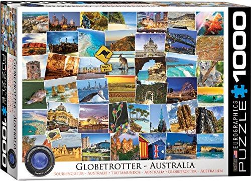 EuroGraphics Australia Globetrotter (1000 Piece) Puzzle (Globe Australia)