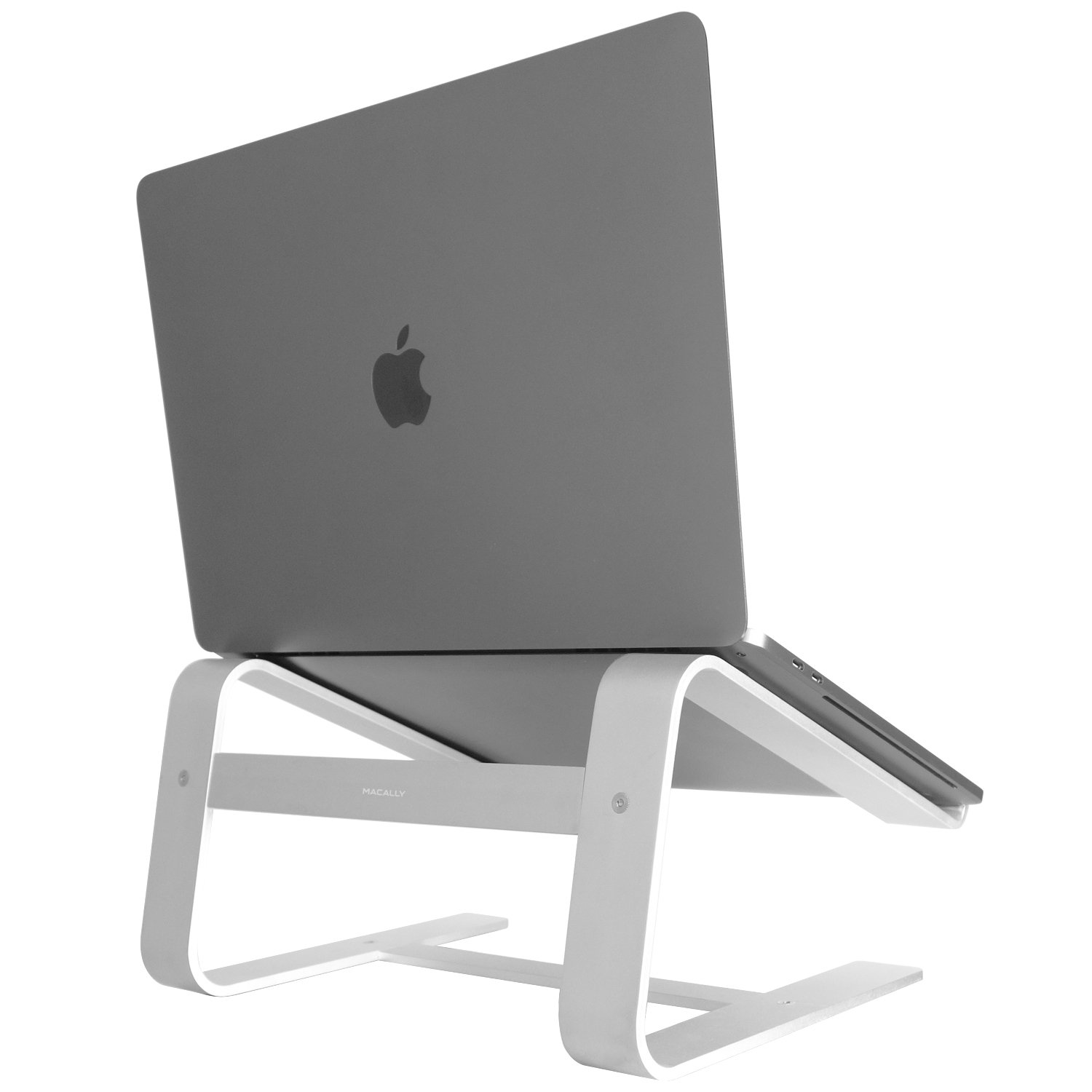 Macally Aluminum Laptop Stand for Desk & for All Apple MacBook 12'' / Pro/Air, Chromebook, Samsung, Acer, HP, Dell, Any Notebook Between 10'' to 17.3'' (ASTAND)
