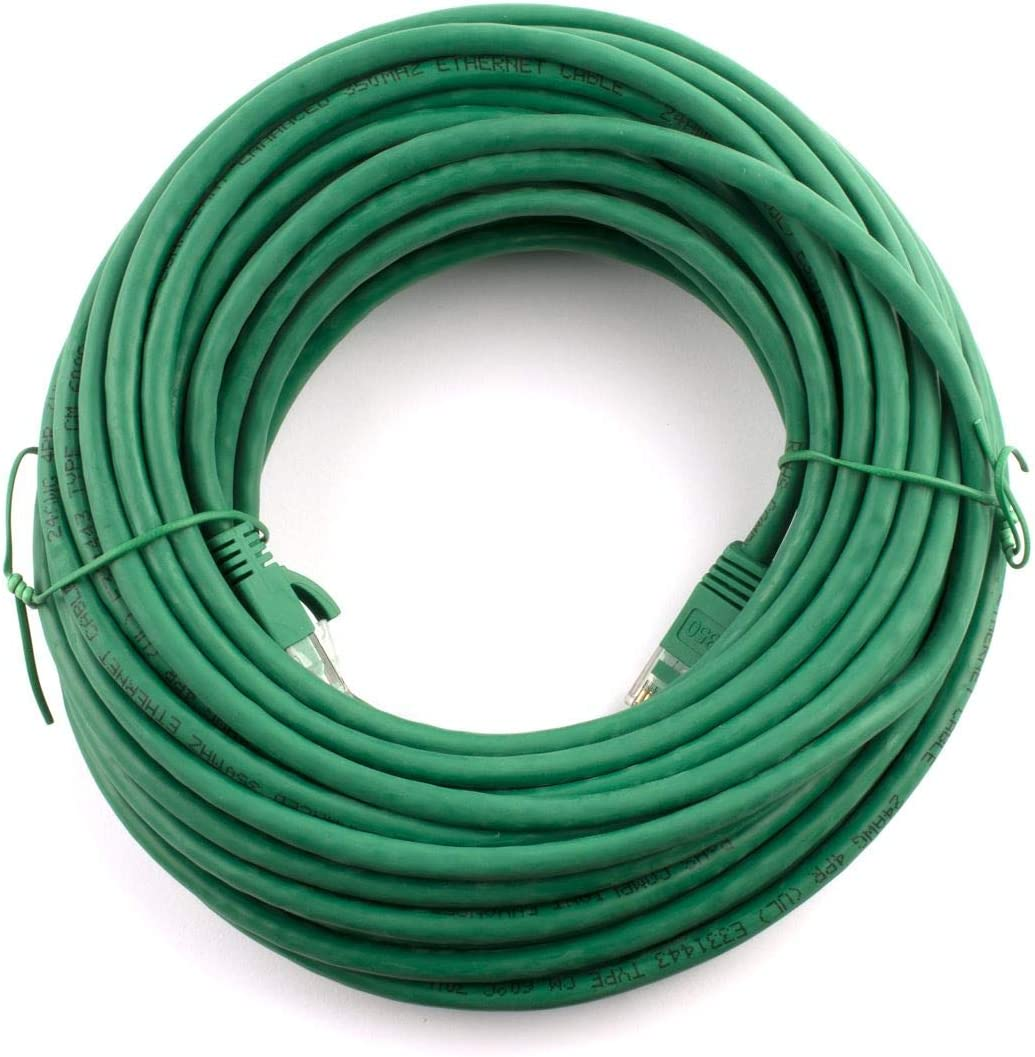 Networx CAT5e Patch Cable Green 50 FT Booted