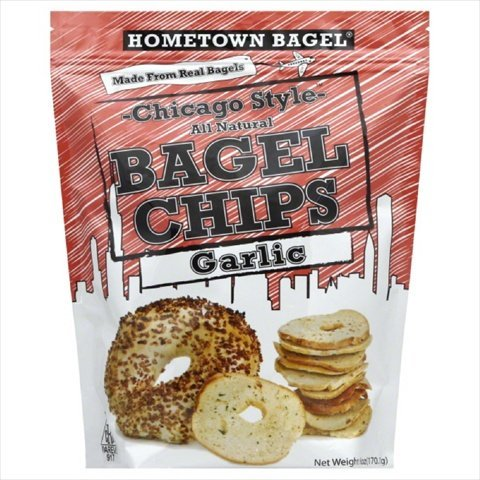 Chip Bagel Garlic 6 OZ -Pack Of 12 by Hometown Bagel