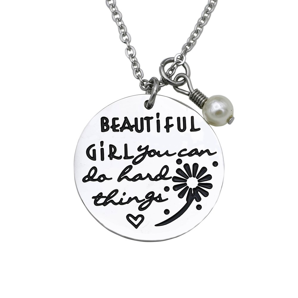 O.RIYA Inspirational Bracelet/Necklace Beautiful Girl You Can Do Hard Things Beautiful-girl-bracelet