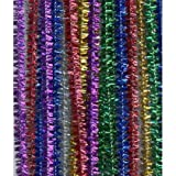 Tinsel Pipe Cleaners - 100pk by Tinsel pipe cleaners