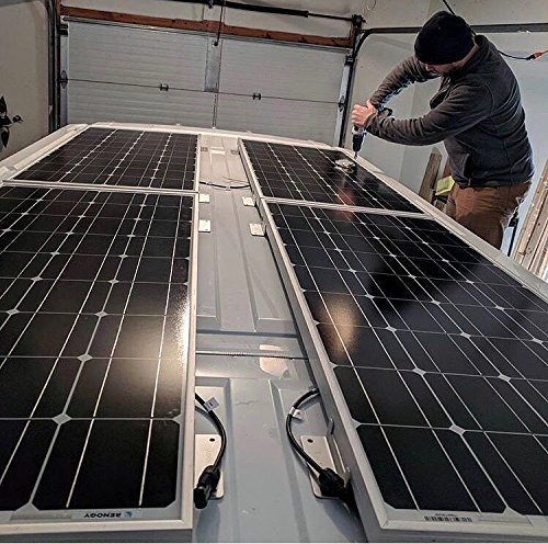 Boat Roof Wall and Other Off-Gird Roof Installation Renogy Solar Panel 4 Pieces of Z Holder for Mounting Solar Panel Roof Mount Z Bracket with Nuts and Screws for Motorhome