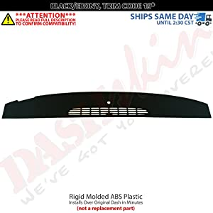 DashSkin Molded Defrost Dash Cover Compatible with 07-14 GM SUVs & Pickups in Ebony/Black