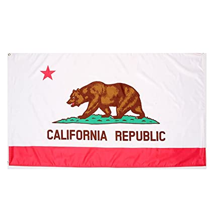 Bandera de California Bandera de poliéster DE 5 * 3 pies/150 * 90 cm