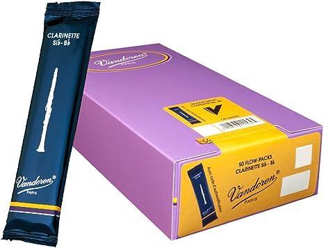 Vandoren CR1025/50 - Caja de 50 cañas tradicional para clarinete sib: Amazon.es: Instrumentos musicales