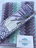 Luxurous Lavender Bath Towel Tuscany Scented Soap Gift Bundle