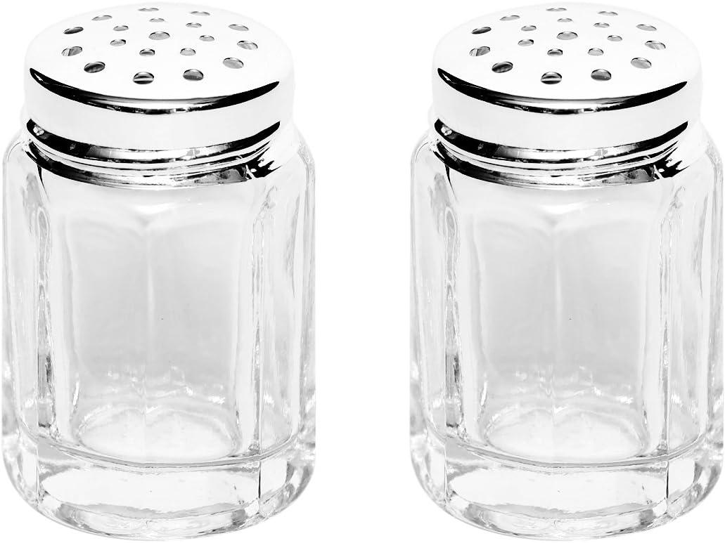 Ministreuer aus Glas  2.7 x 2.7 x 4.5 cm #38536# Viva Haushaltswaren  6 Mini Salzstreuer