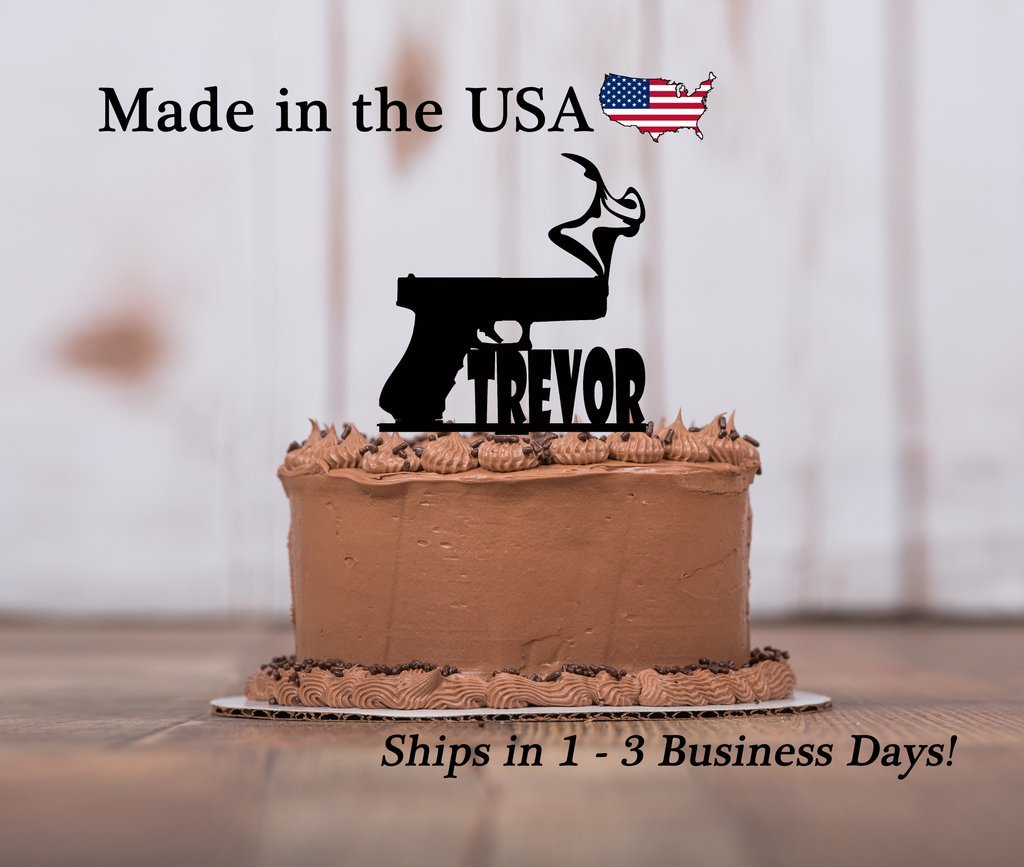 Hand Made Cake Topper Birthday Edible Nerf Gun Bullets