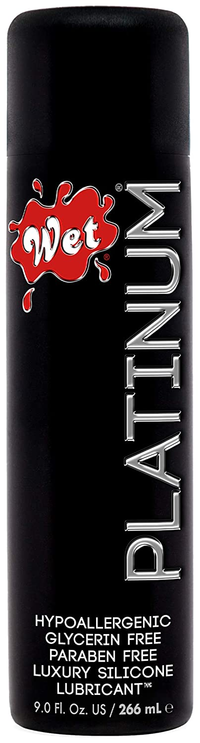 Wet Platinum Lube - Premium Silicone Based Personal Lubricant, 9 Ounce