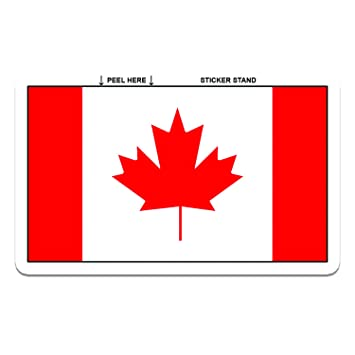 Canada canadian flag car bumper sticker decal 5