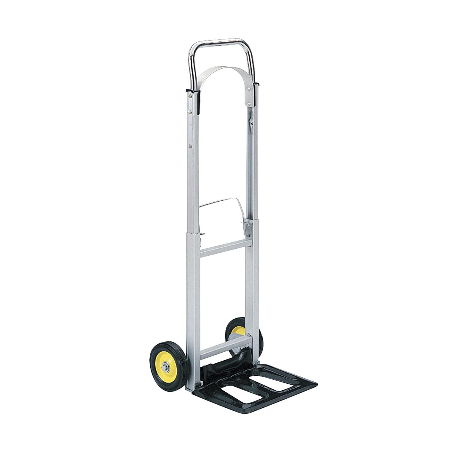 Safco Products 4061 Hide Away Collapsible Utility Hand Truck Silver Black