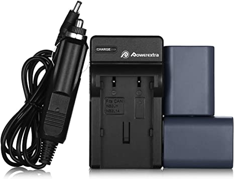 2 pcs NB-2LH Battery Charger For Canon Elura 60//65