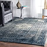 nuLOOM Traditional Vintage Fancy Blue Rug (3' x 5') Synthetic Fiber