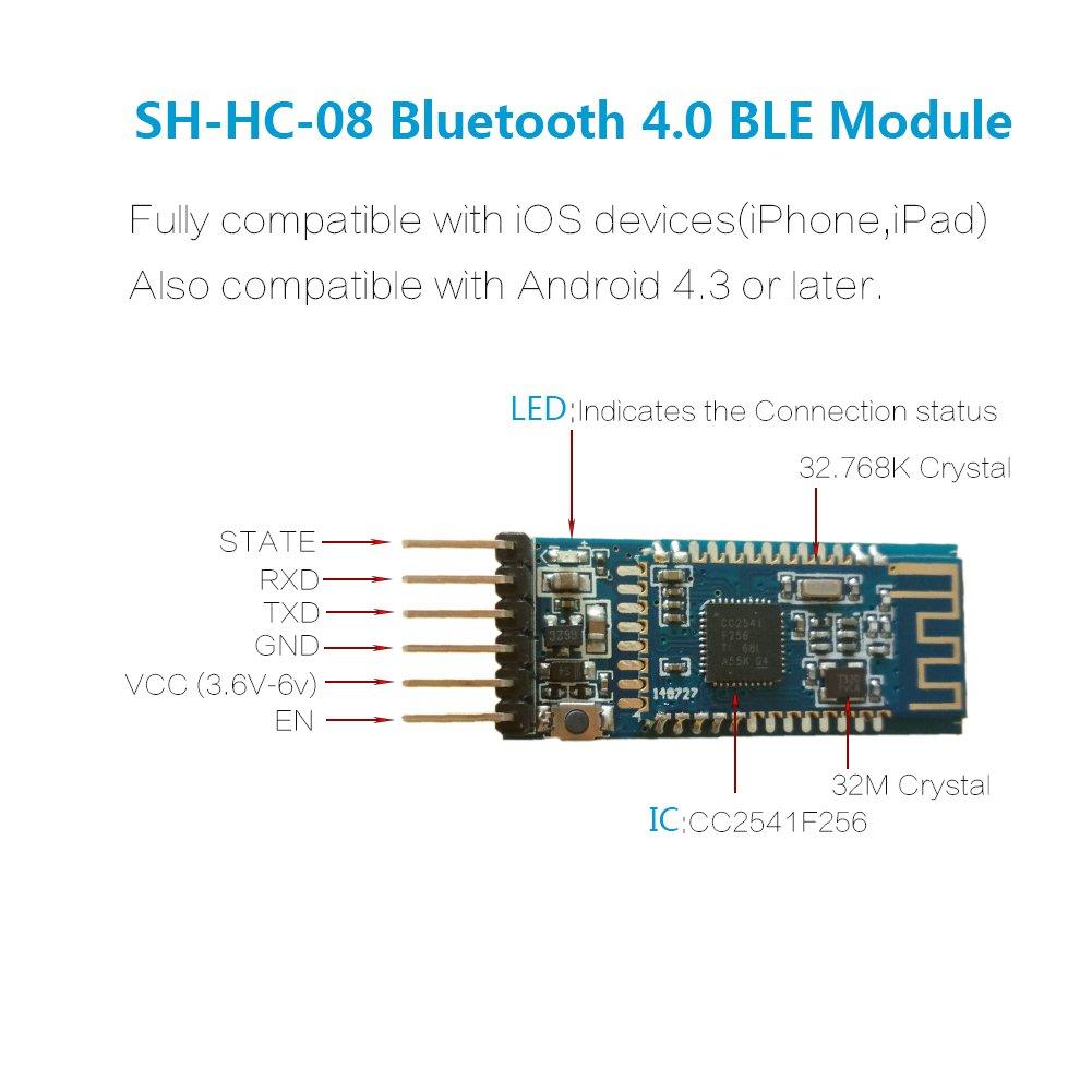 Amazon DSD TECH SHHC08 Bluetooth 40 BLE Slave Module to – Kedsum Bluetooth Wiring Diagram