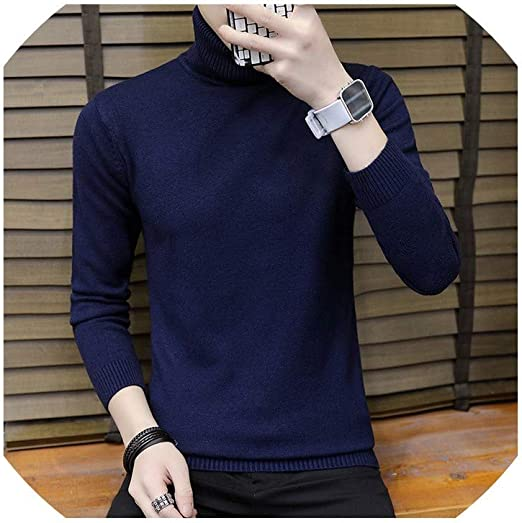 Men/'s Slim Fit High Turtle Neck T-Shirt Casual Sport Sweater Top Shirts Pullover