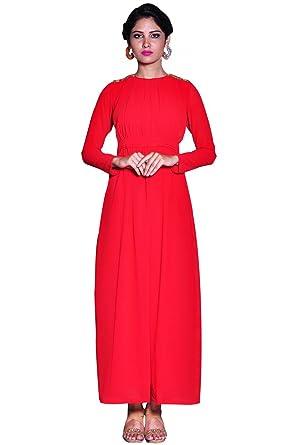 Bayside Clothing Spain Damen A Linie Kleid Rot Rot Gr Xl Rot
