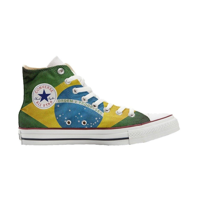 Converse All Star Hi Customized personalisierte Schuhe (Handwerk Schuhe) Brasilien