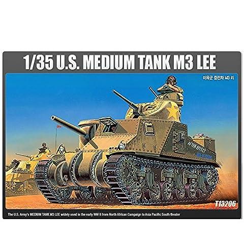 Academy Models 13206 1/35 U.S Medium Tank M3 Lee Tank Plastic Model Kit (M3 Lee Tank Model)