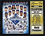 MLB Kansas City Royals 2015 World Champions Stat Plaque, Blue, 12 x 15""