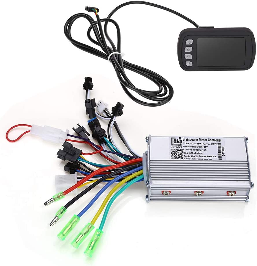 WonVon Electric Bicycle Speed Controller,36V 48V 350W Ebike Brushless Speed Motor Controller with LCD Panel for Electric Bike Bicycle Scooter
