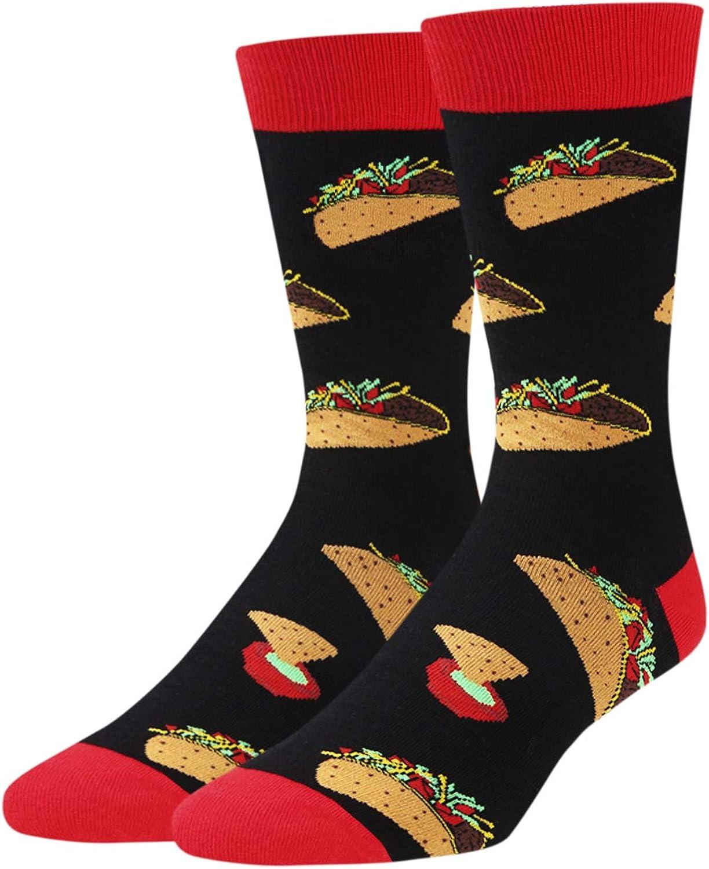 Zmart Men's Funny Taco Bacon Pineapple Donut Socks Crazy Cool Food Lover Gift
