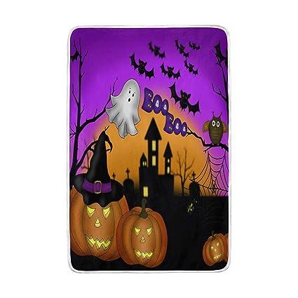 Amazon.com: WXLIFE Happy Halloween Pumpkin Owl Soft Warm ...