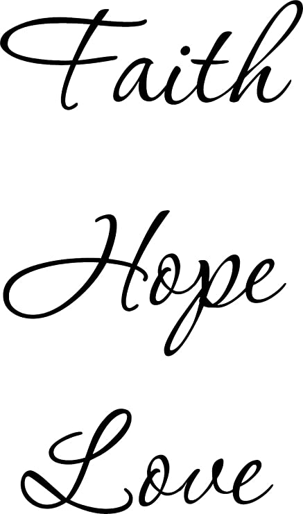 amazon com wall decal quote faith hope love wall decal decor words