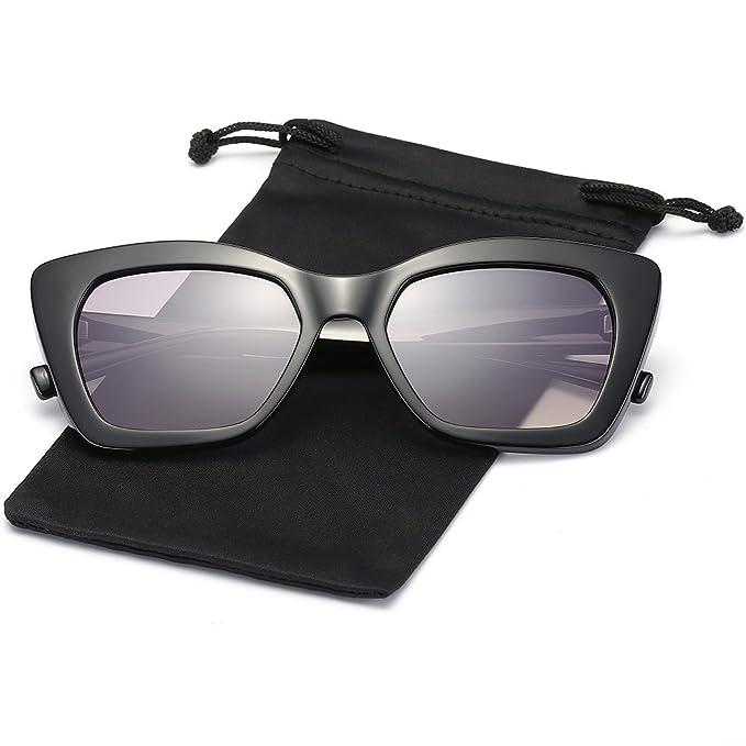 Amazon.com: lookeye Cateye anteojos De Sol Para Mujer Marco ...