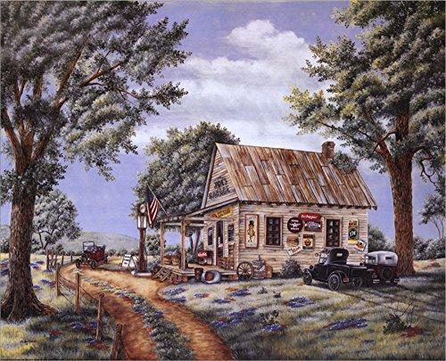 Joe's Garage by Kay Lamb Shannon Laminated Art Print, 20 x 16 inches (Kay Lamb)