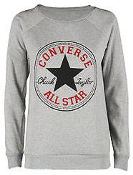 Sudadera para mujer, diseño Converse All Star, S/M (36