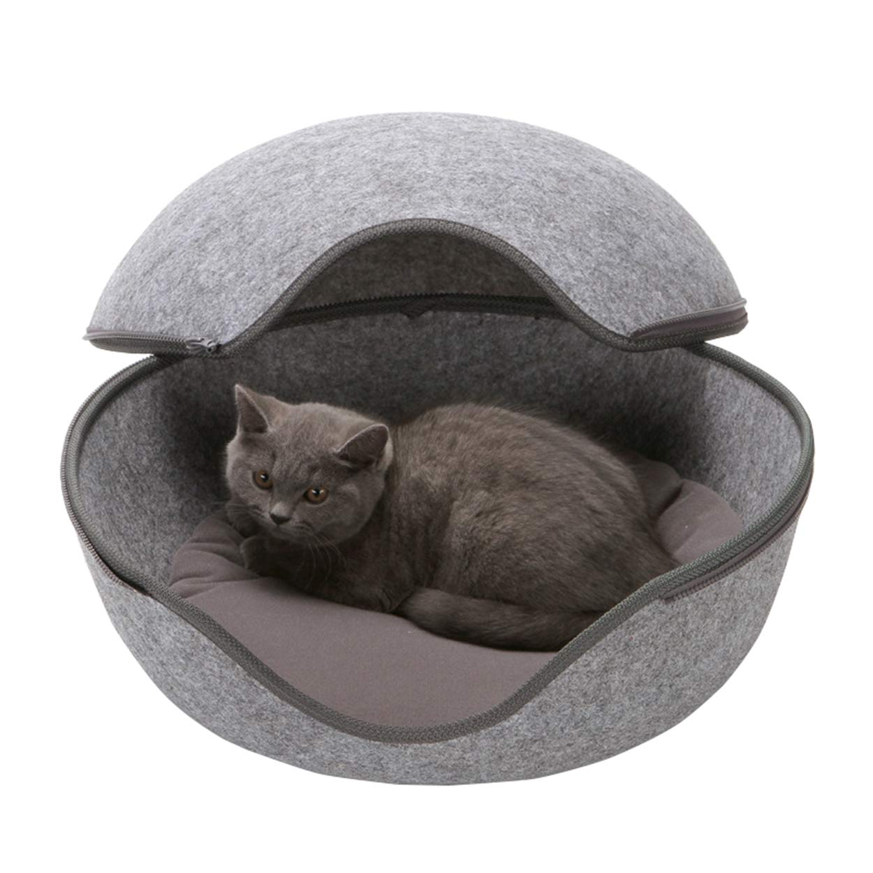 Pawant Dogs Bed Sleeping Zone All Season Cute Quality Small Dog Cat House Indoor Use Gray LGHQ-5775-GRAY