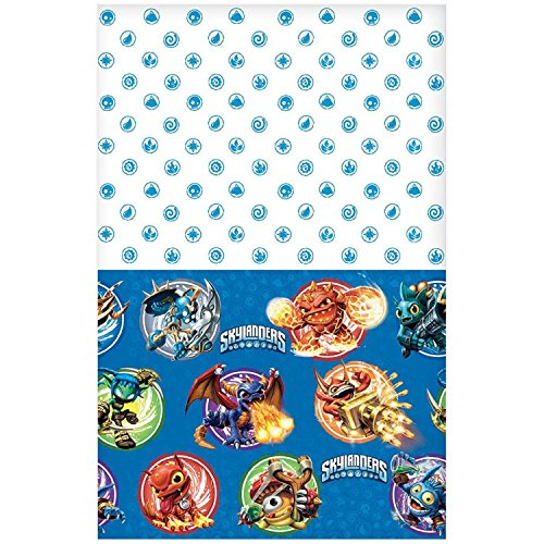 Amscan Swashbuckling Skylanders Birthday Party Plastic Table Cover Tableware Decoration (1 Piece), 54