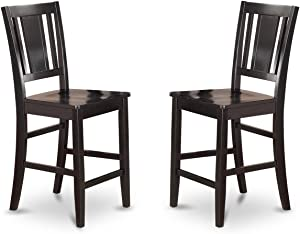 Buckland Counter Height Chairfor dining room with Wood Seat in Black Finish