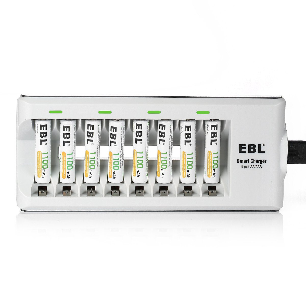 EBL AA AAA Battery Charger and AAA Rechargeable Batteries Ni-MH 1100mAh 16 Counts with Battery Cases by EBL (Image #7)