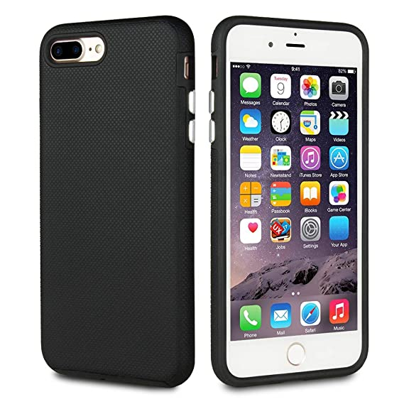 pretty nice f6811 00d5a FRIFUN Compatible with iPhone 7 Plus Case, iPhone 8 Plus Case,Dual Guard  Protective Shock Absorbing Case Scratch-Resistant Rugged Drop Protection ...