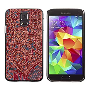 MOBMART Carcasa Funda Case Cover Armor Shell PARA Samsung Galaxy S5 - The Hidden Meaning Behind The Brown Shapes