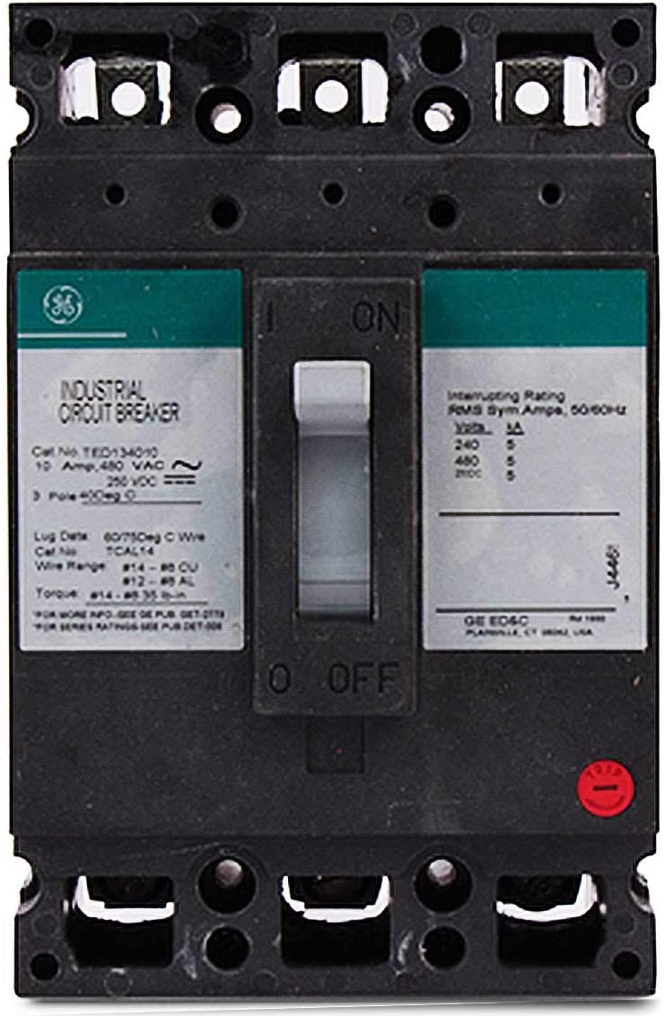 TED134030 GENERAL ELECTRIC 480 VAC 30 Amp 3 Pole CIRCUIT BREAKER