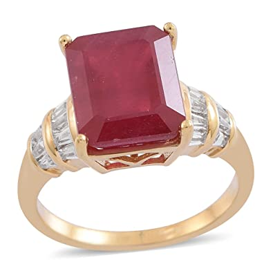 Padparadscha Colour Quartz White Topaz Ring in Platinum Over Silver 11.25CT p9zIZ