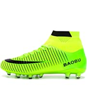 865f9fcef LANSEYAOJI Football Boots High Top Soccer Shoes Mens Boys Professional  Spikes Football Shoes Training Shoes Teenagers
